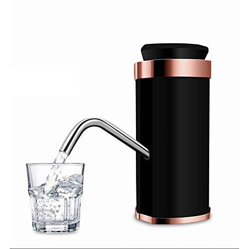 CLL WASSERFLASCHENPUMPE USB-Ladegerät, 5-Gallonen-Universalwasserflasche für den Außenbereich, Haushalt, Büro, Mineralwasserspender Vollautomatische Wasserpumpe, Schwarz