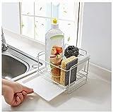 GXFJKHGHHG Escurreplatos escurridor de Platos Estante de Almacenamiento de Cocina Tazón de encimera Paño de Limpieza Estante Escurridor de Fregadero Cesta Bandeja de Agua extraíble (Color:White)