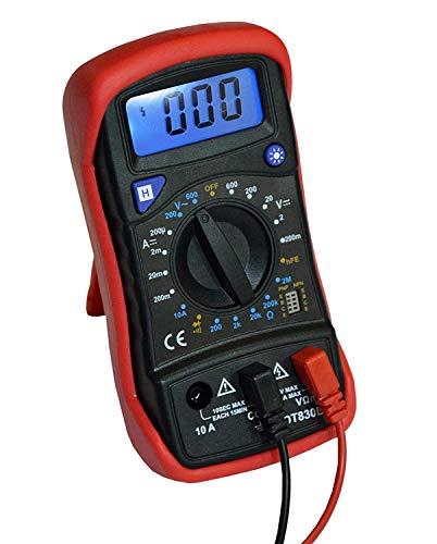 R-tek (Device) 830L 3 Digit, 600 AC/DC Voltage Digital Multimeter with Back Support and Back Blue Light