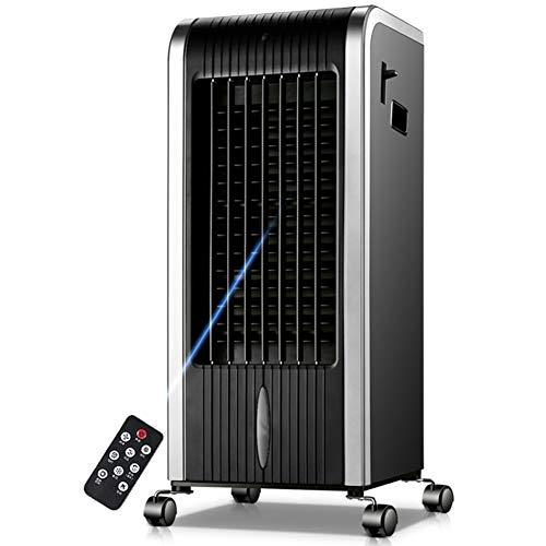 Portátil Aire Acondicionado, Calentador, Deshumidificador, Ventilador, Móviles Enfriador De Aire con Mando a Distancia Y Led Pantalla para Habitaciones hasta 200 Sq Ft-negr&Plateado 10x12.5x28inch
