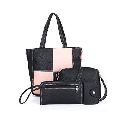 YYZZ Schwiegermutter Paket Spleißen vierteilige vielseitige PU-Handtasche lässig Damen einfache Umhängetasche