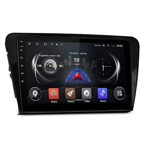 ISUDAR Android 10 Radio de Coche para Skoda Octavia 3 con Pantalla QLED de 10,1 Pulgadas Nave GPS DDR4 de 8 núcleos 1080P Video Carplay Bluetooth 4G WiFi DSP con Control Rueda Cámara USB Dab no 2 DIN