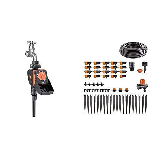 Claber 87277 AQUAUNO LOGICA 8422, Nero/Arancione, 120x180x80 cm & 90764 Kit-Drip 20 Vasi Kit Rainjet...