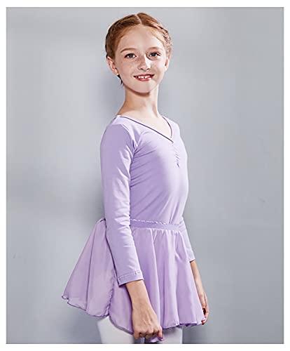 ZRFNFMA Faldas de Baile folclóricas de Las niñas Faldas de separación para niños Ballet Infantil Danza Práctica Práctica Trajes Casual Ropa purple-140cm