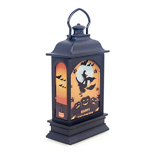CarryKT 2019 Halloween Vintage pompoenslot LED geschilderd licht hangend windlicht draagbare hangende lantaarn party supplies