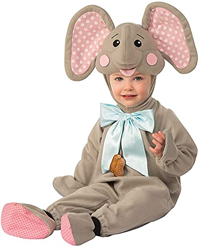 Rubies Rubie's Disfraz Elly El elefante para niños 12-18 meses, multicolor, 300726-12-18M