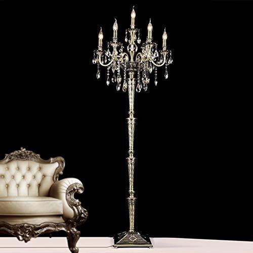 Lampara de pie Moderna de cristal Lámpara de piso del soporte del accesorio ligero de la lámpara de los candelabros de pie de alta...
