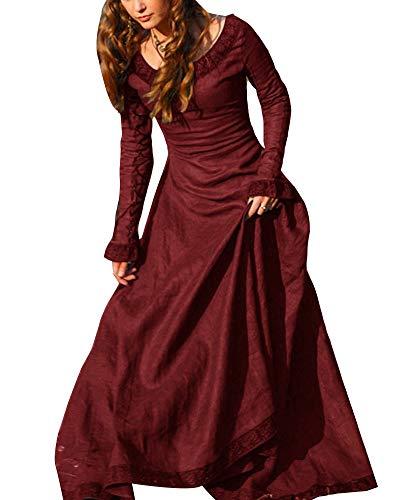 Avondjurken vrouwen lange cosplay vintage lange mouwen middeleeuwse baljurk prinses gothic modieuze Completi-jurk jaren 50 Rockabilly A-lijn cocktailjurk partyjurk