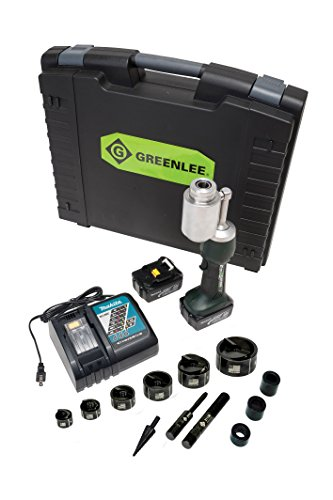 Greenlee LS100L11SB Battery Powered Punch Driver with 1/2 - 2-Inch Mild Steel Conduit Punch Set