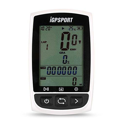Lixada Computer per Bicicletta GPS Cycling Computer Ricaricabile IPX7 Impermeabile Anti-Abbagliamento Schermo Bicicletta GPS Contachilometri Computer con Supporto