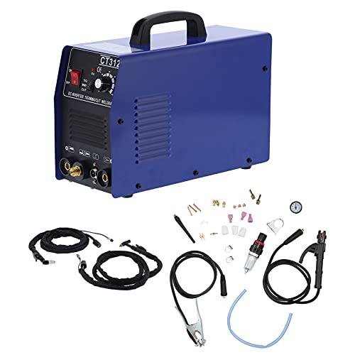 Eujgoov Inverter DC Plasma Cutter Sin Contacto Ajustable Choque Térmico Máquina de Corte de Metal Tig Stick MMA Soldador Soldadura 3 en 1 Máquina de Corte Kit de Accesorios(Enchufe de la UE)