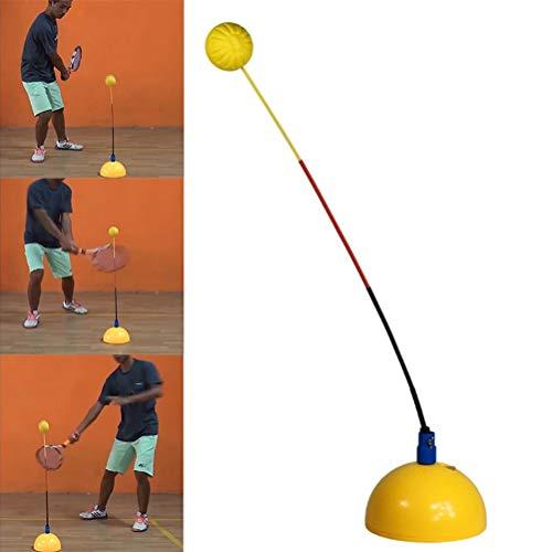 Susian Instructor de Tenis, Instructor de Tenis Herramienta de Entrenamiento de Rebote Práctica de Entrenamiento Máquina de Pelotas Dispositivo de Entrenamiento de Tenis Multiusos portátil