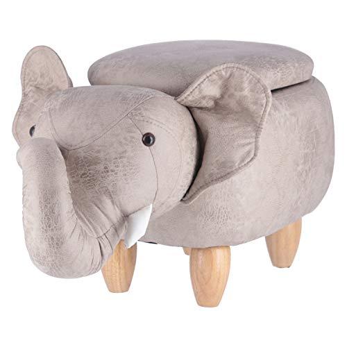 不二貿易 アニマルスツール 収納スツール ゾウ 高さ36cm 動物 おもちゃ収納 34926