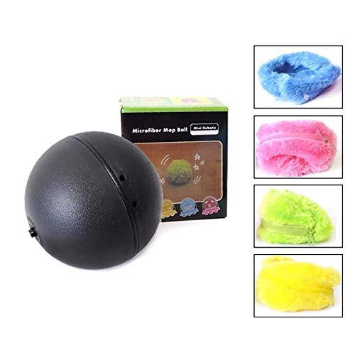 Chidi Toy Magic Roller Ball, Balle de Jouet électrique pour Animaux de Compagnie 2 en 1 avec Couverture de Laine 4 pour Chien Chat, Jouet éducatif pour Animaux