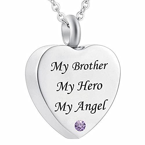 Urna Cenizas Colgante My Brother my Hero my Angel Fire Burial Jewelry Memorial urne Necklace Pendant urna Cenizas Colgante Memorial