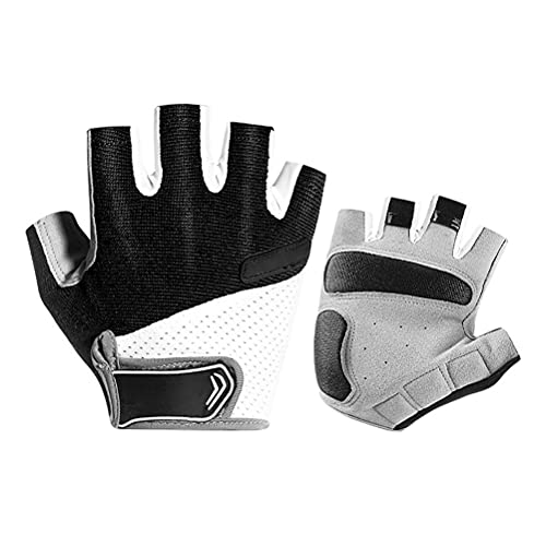 fansheng Guantes de ciclismo sin dedos al aire libre, protección transpirable, antideslizantes, medio dedo, guantes de montaña, gimnasio, ejercicio, para hombres y mujeres