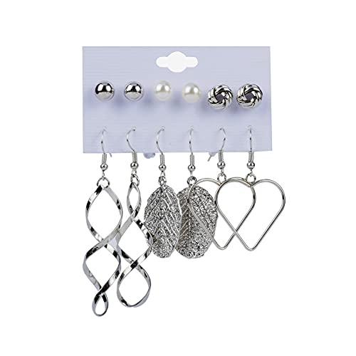 1 pieza de pendientes para mujer, pendientes de estilo muti, encantadores y aretes de aro para mujer