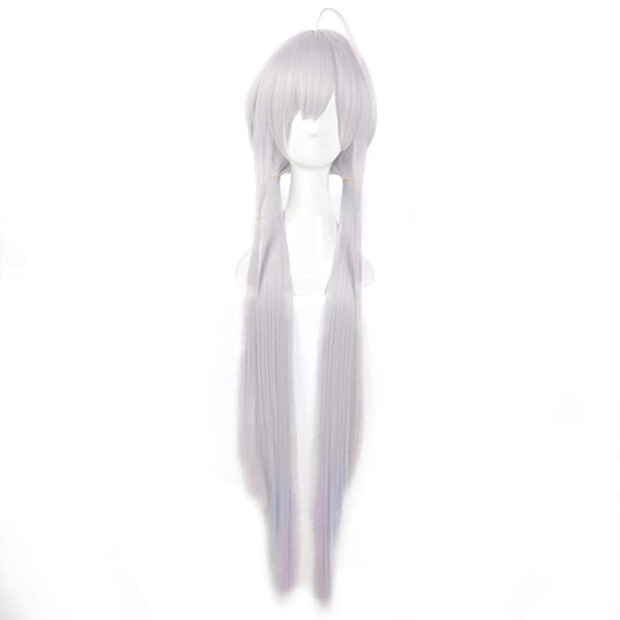 補う人道的推進力BOBIDYEE グラデーション斜め前髪高温シルクロングヘアコスプレアニメかつらスターダスト合成髪レースかつらロールプレイングかつら (色 : Gradient)