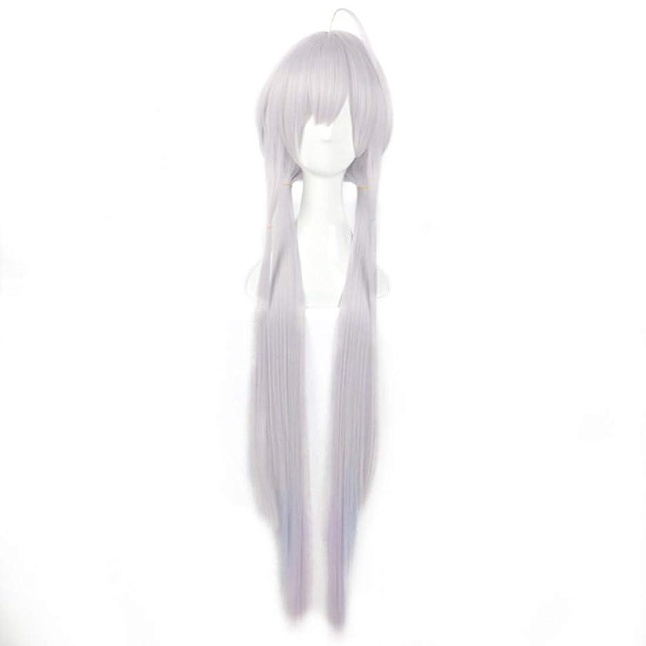 賠償レルムかわいらしいBOBIDYEE グラデーション斜め前髪高温シルクロングヘアコスプレアニメかつらスターダスト合成髪レースかつらロールプレイングかつら (色 : Gradient)