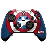 Skinit Decal Gaming Skin Compatible with Xbox One Elite Controller - Officially Licensed Marvel/Disney Captain America Emblem Design