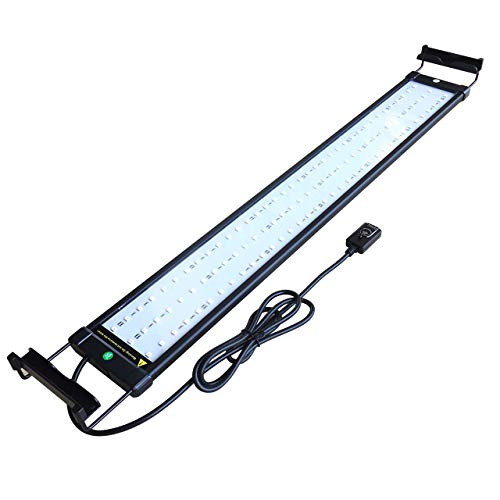 COODIA Aquarium Hood Lighting Color Changing Remote Controlled Dimmable RGBW LED Light for Aquarium/Fish Tank, Extendable (for Fresh and Salt Water) (28--36inch)