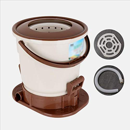 ZSYDS Wäscheschleuder-tragbare Kleidung Wäscheschleuder Haushalts manuelle Schleuder, verwendet for Schleuder, Energieeinsparung und Umweltschutz (Color : Brown)