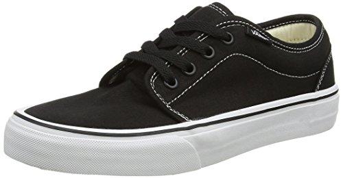 Vans Men's 106 Vulcanized Skate Shoes 5.5 (Black/White)