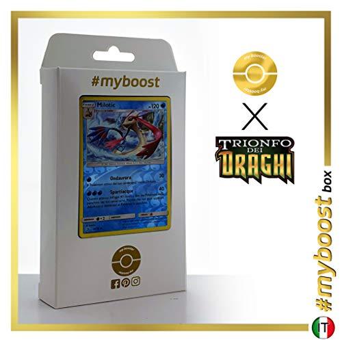 Milotic 29/70 Holo Reverse - #myboost X Sole E Luna 7.5 Trionfo dei Draghi - Box di 10 Carte Pokémon Italiane