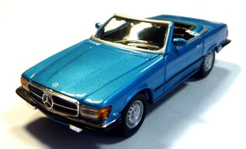 1971 Mercedes Benz 450 SL Cabrio [Bburago 43212], Metallic Blau, 1:32 Die Cast