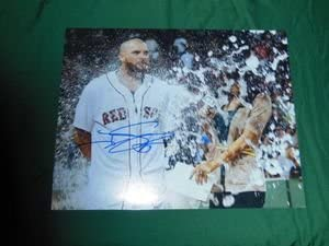 Red Sox Johnny Kansas City Mall Gomes Autographed Series Brand new Celebra World 8x10 Photo