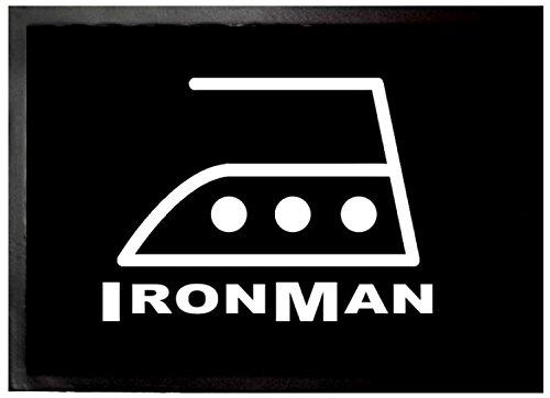 1art1 Humor - Iron Man Felpudo Alfombra (70 x 50cm)