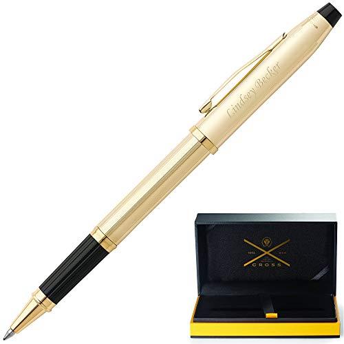 Personalized Cross Pen | Engraved Cross Century II 10 Karat Rolled Gold Rollerball Pen 4504. Custom Engraving By Dayspring Pens!