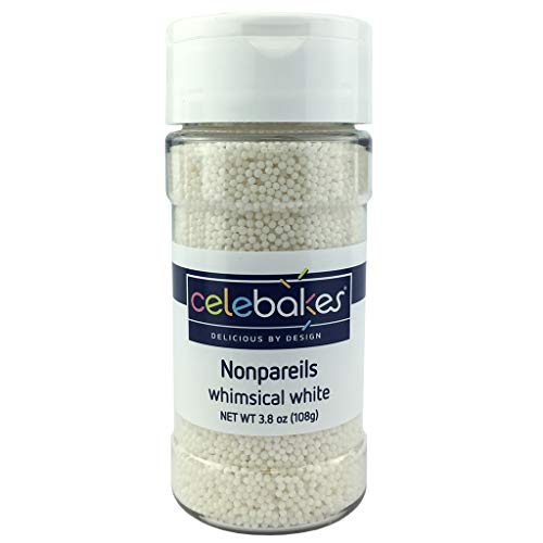 Celebakes By CK Products Non-Pareils Decorating Sprinkles, Whimsical White , 3.8oz
