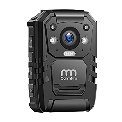 1296P HD Police Body Camera,64G Memory,CammPro Premium Portable Body Camera,Waterproof Body-Worn Camera with 2 Inch Display,Night Vision,GPS for Law Enforcement Recorder,Security Guards,Personal Use by