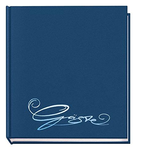 Veloflex 5420050 Gäste-Buch Classic mit Prägung Gäste, 144 Seiten weißes blanko Papier, 205x240...