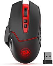 Redragon M690-1 Wireless Gaming Mouse with DPI Shifting, 2 Side Buttons, 2400 DPI, Ergonomic Design, 8 Buttons-Black