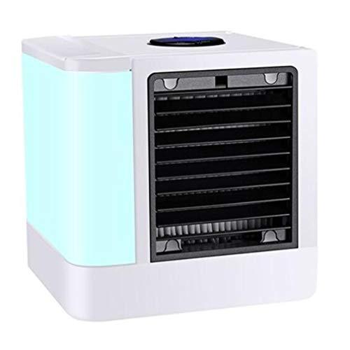 HehiFRlark - Mini pantalla digital para refrigerador de aire en casa, ordenador versión de refrigeración, pequeño ventilador indicador, color blanco
