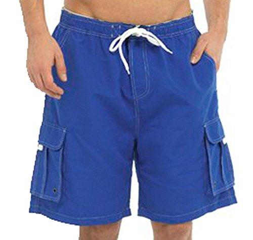 Tom Franks - Short de sport - Homme - Bleu - Large