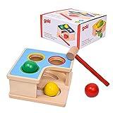 GOKI- Puzzles de maderaPuzzles de maderaGOKIBanco Martillo y Recorrido de canicas, Multicolor (1)