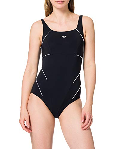 Arena w Jewel One Piece Maillot de bain Femme, Black/White, FR : 4XL (Taille Fabricant : 50)