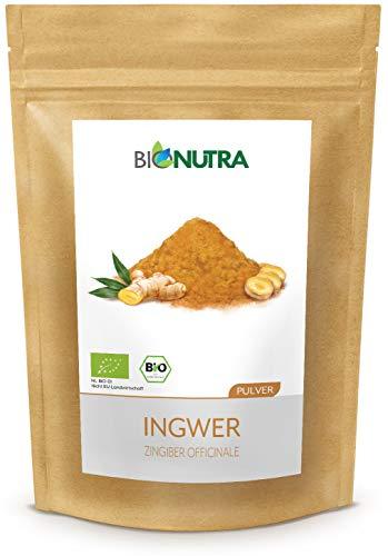 BioNutra® Gember poeder biologisch 250 g, fijngemalen gember, gecontroleerde biologische teelt