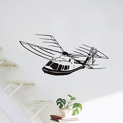 supmsds Fliegen Hubschrauber Vinyl Wandaufkleber Flugzeug Wohnkultur Abnehmbare Aufkleber Maßgeschneiderte Farben Erhältlich Tapete Wandbild S58X127CM