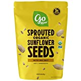 Go Raw Sunflower Seeds with Sea Salt, Sprouted & Organic, 14 oz. Bag | Keto | Vegan | Gluten Free Snacks | Superfood