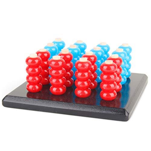 Deeabo Juegos de rompecabezas Row of Five 3-D, 3D Connect 5 in a Row Juego Toy Brain Challenge Juego de mesa Tablero Conectar Familia Niños Interacción con los padres Juguete divertido Juguete