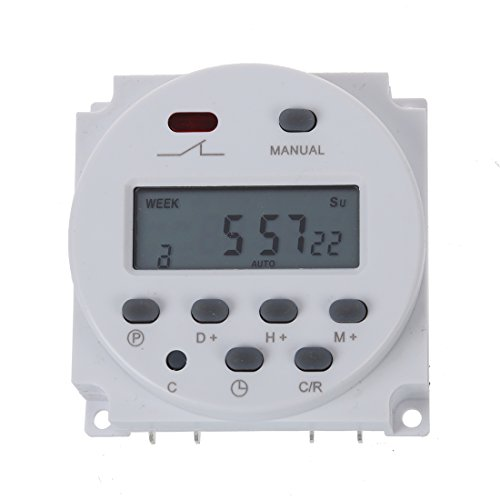 Temporizador - SODIAL(R)Temporizador, digital, programable LCD, AC 220V-240V, 16A