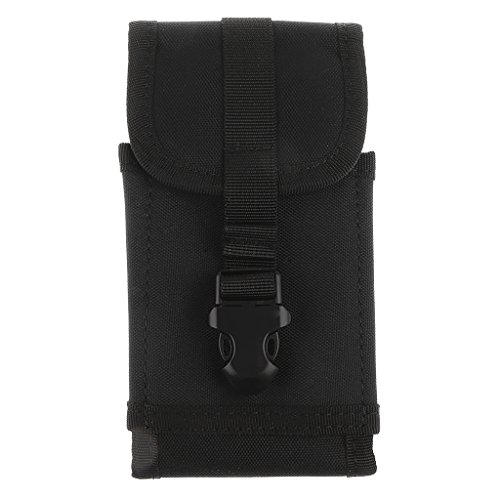 IPOTCH Cell Phone Case Pouch with Belt Sling Pouch for MP3 Player Sports - Black, as described