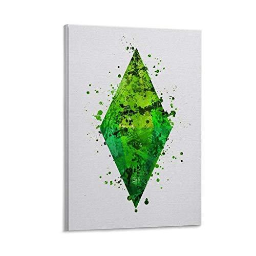 The Sims Videospiel-Poster, ästhetisches Geschenk, dekoratives Gemälde, Leinwand, Wandkunst, Wohnzimmer, Poster, Schlafzimmer, Malerei, 20 x 30 cm
