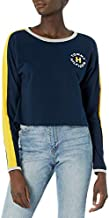 Tommy Hilfiger Women's Long Sleeve Pullover Logo Sweater Sweatshirt Pajama Top Pj, Navy Blazer, L