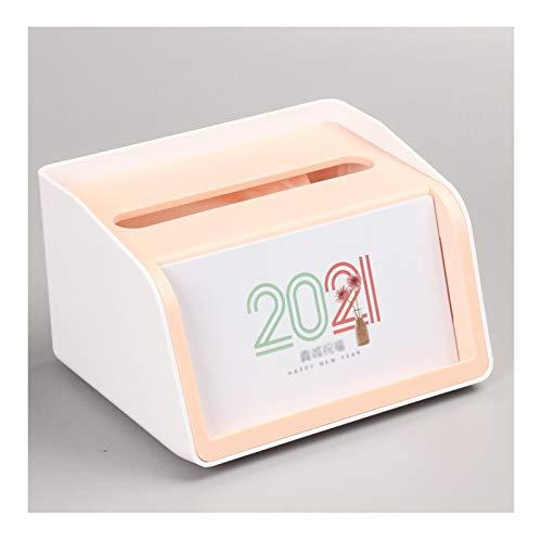 Planificador mensual 2021 caja del tejido del calendario de escritorio calendario mensual de enero 2021 a diciembre 2021 de Ministerio del Interior, de múltiples funciones del calendario de escritorio