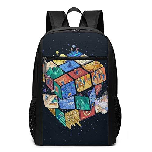 Cube World Modieuze rugzak voor computer, hoge kwaliteit, grote capaciteit, reistas, multifunctioneel, uniseks, 17 inch